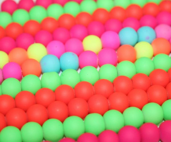 8mm Rubber coated glass beads